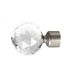 Koncovka Crystal Gula satin nickel Ø25 mm kus
