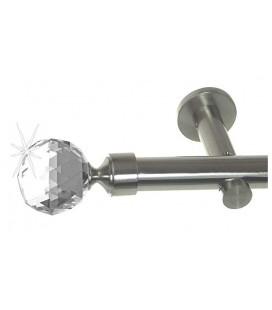 Efekt-nerezová oceľ Ø 19 mm - Crystal gula Držiak jednoduchý simple