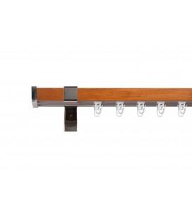 Garniža dreveno-kovová dvojitá Quadrato 25*55mm Orech