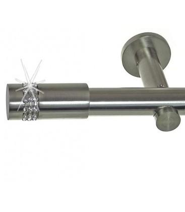 Efekt-nerezová oceľ Ø 19 mm -Cylinder crystal Držiak jednoduchý simple