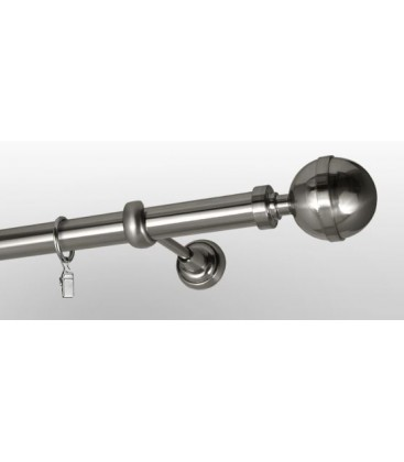Efekt nerezová oceľ Ø 25 mm - koncovka Kalisto tyč hladká