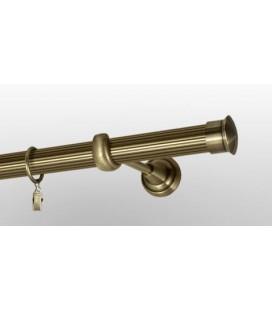 Antik Ø 25 mm - koncovka Duo tyč ryhovaná