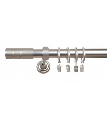 Satin nickel Ø 25 mm - koncovka Cylinder hladky tyč hladká