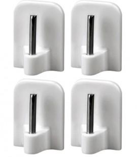 Samolepiaci háčik na Mini vitrážku biely 4ks