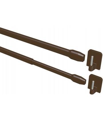 Garniža Mini vitrážka hneda Ø11 mm ( 2ks)