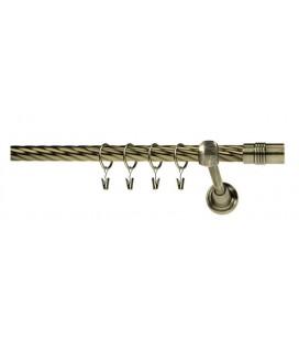 Antik Ø 16 mm - Cylinder tyč krútená