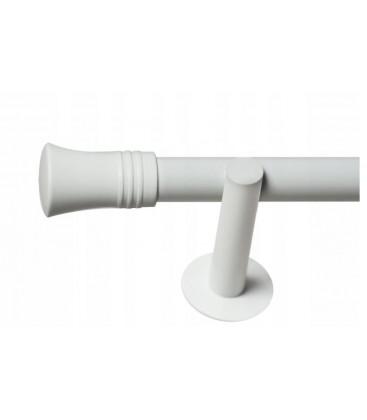 Jednoduchá 19mm biela leskla koncovka Capri