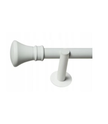 Jednoduchá 19mm biela leskla koncovka Koloseo
