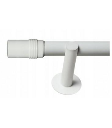 Jednoduchá 19mm biela leskla koncovka Cylinder