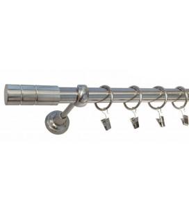 Efekt-nerezová oceľ Ø 25 mm - koncovka Cylinder gladky tyč hladká