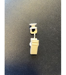 Štipec kovový rotačný biely 10ks