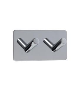 Dvojitý samolepiaci vešiak z leštenej nehrdzavejúcej ocele
