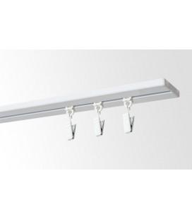Kolajnica stropná jednoduchá biela