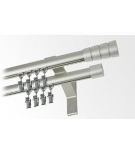 Garniža dvojitá hliníkový profil INOX koncovka Stozek Frez