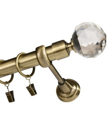 Antik Ø 25 mm - koncovka Crystal Gula tyč hladká