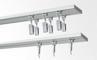 Profily stropné hliníkové strieborne