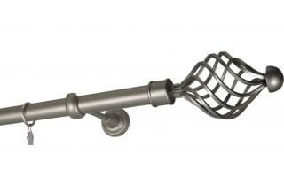 Garníže jednoduché Ø25 mm satin nickel