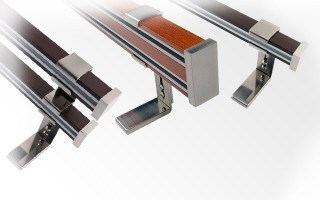 Kombinované garniže dreveno - kovové